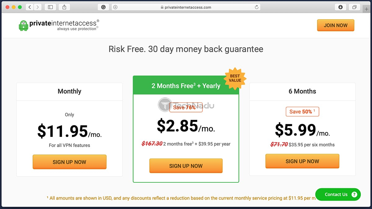 Link to Private Internet Access Pricing