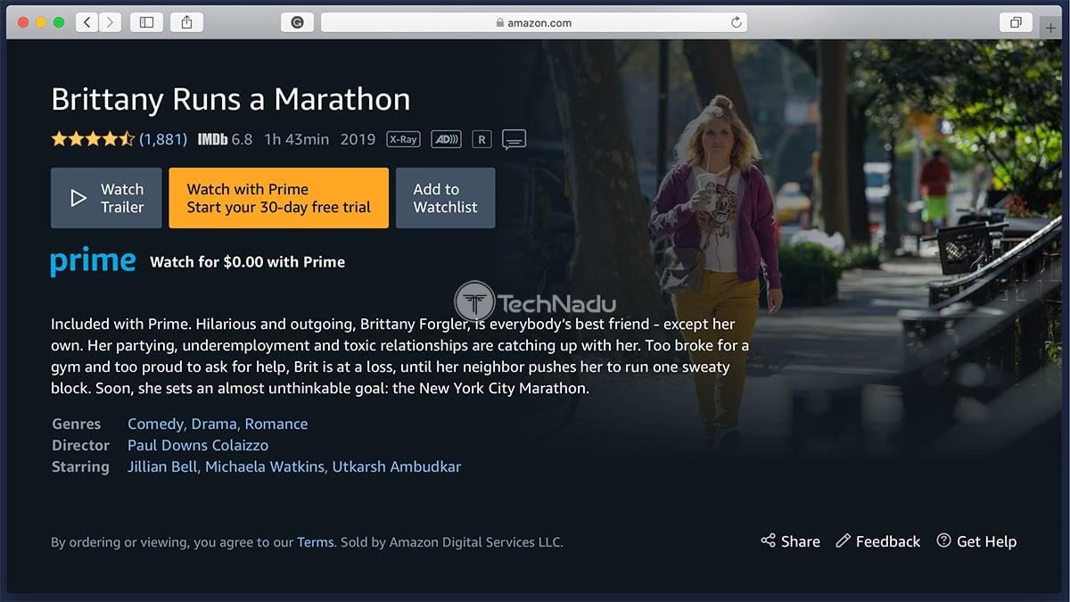 Prime Video Synopsis Brittany Runs a Marathon