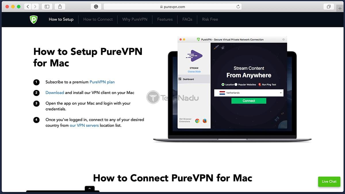 PureVPN Mac Download Page