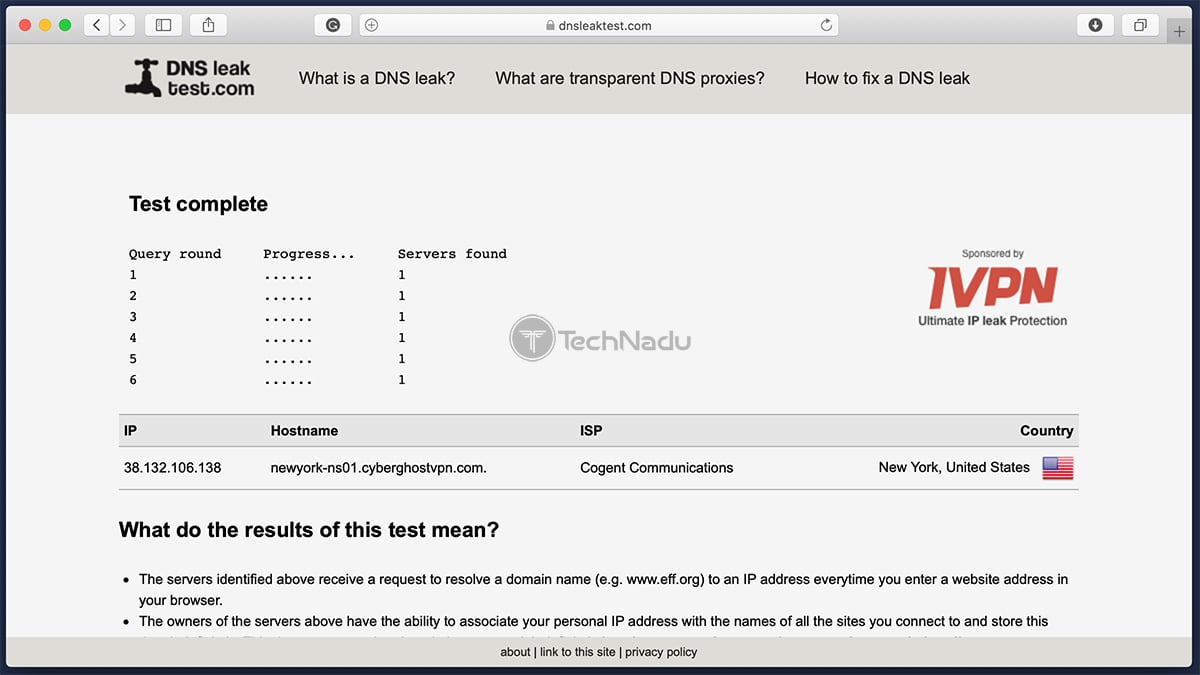 ZenMate Passes DNS Leak Test