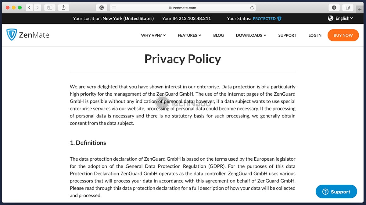 ZenMate Privacy Policy