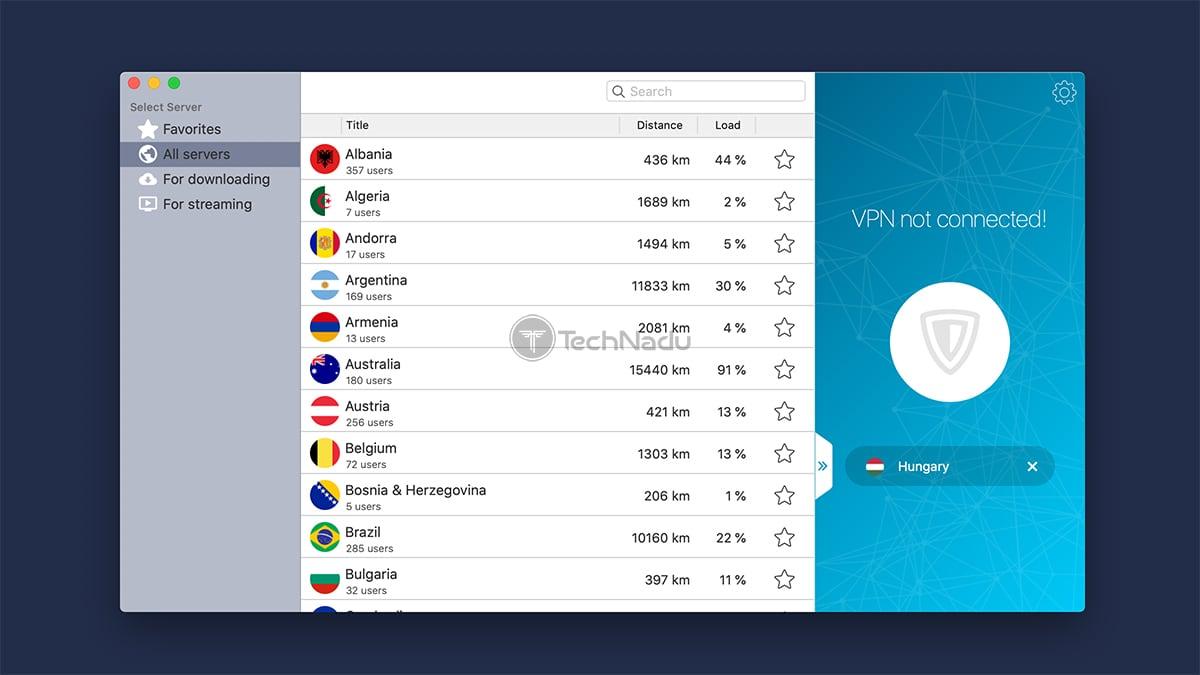 ZenMate VPN Home Screen UI