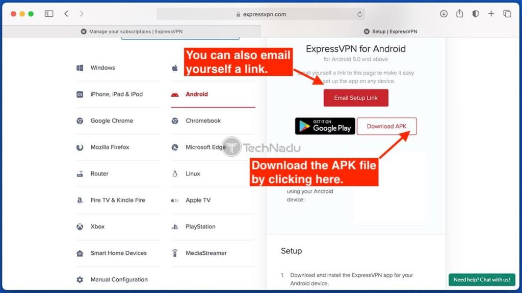 APK File Download of ExpressVPN