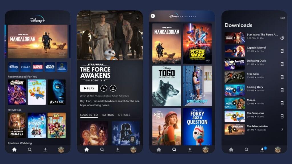 Disney Plus Interface iOS Devices
