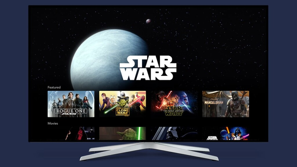 Disney Plus Interface on Smart TV