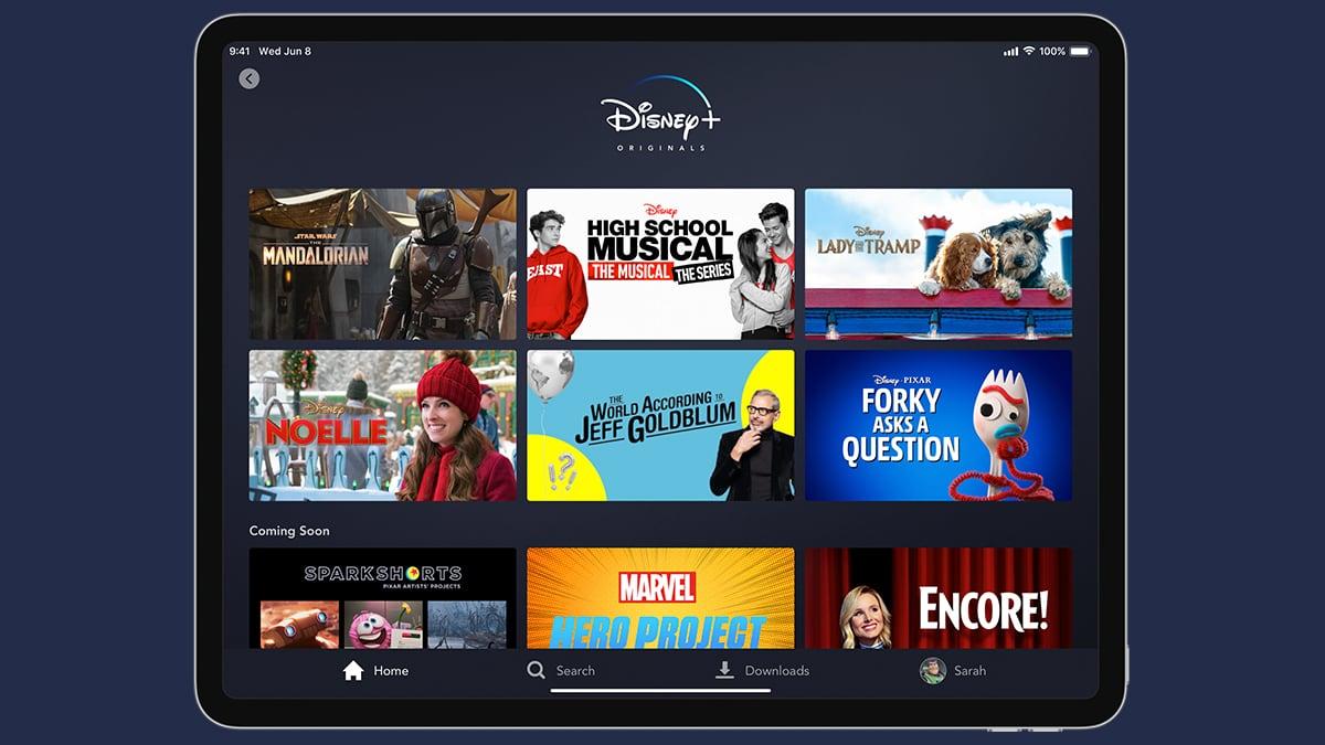 Disney Plus Interface on iPad