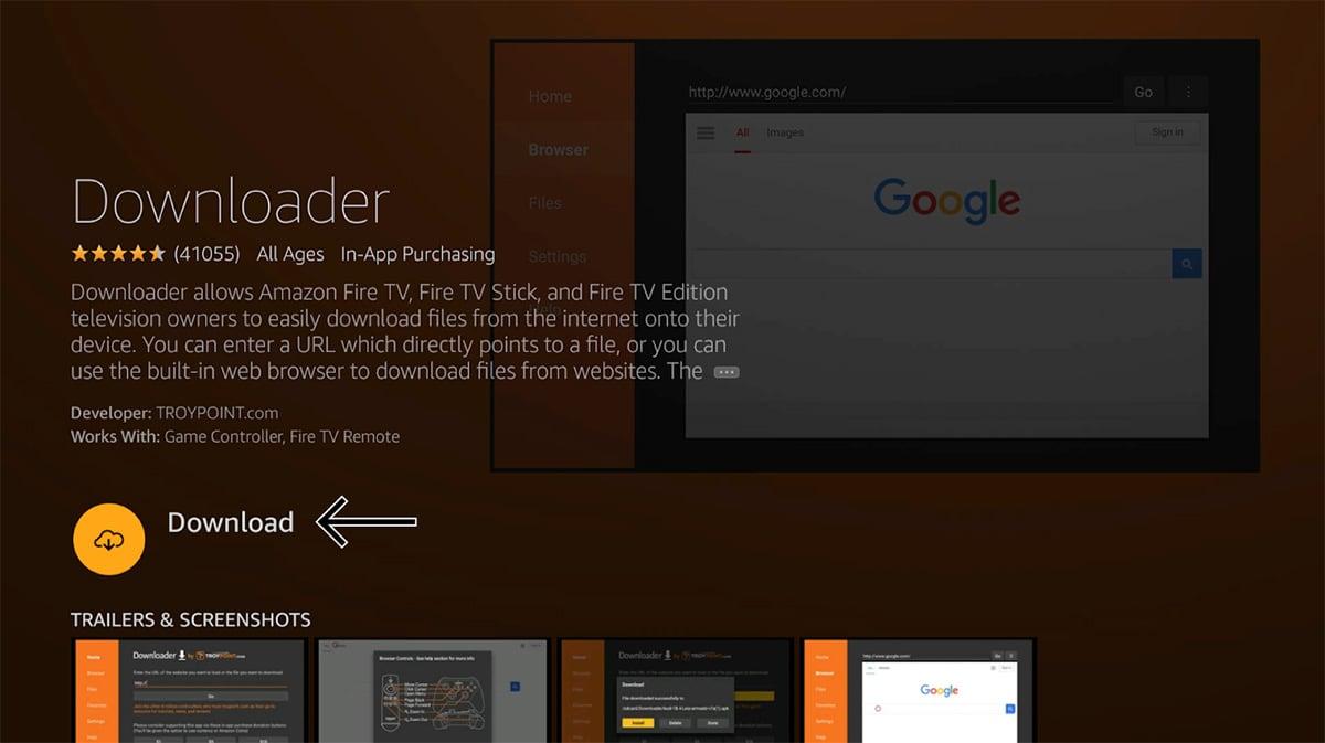 Downloader App Fire TV