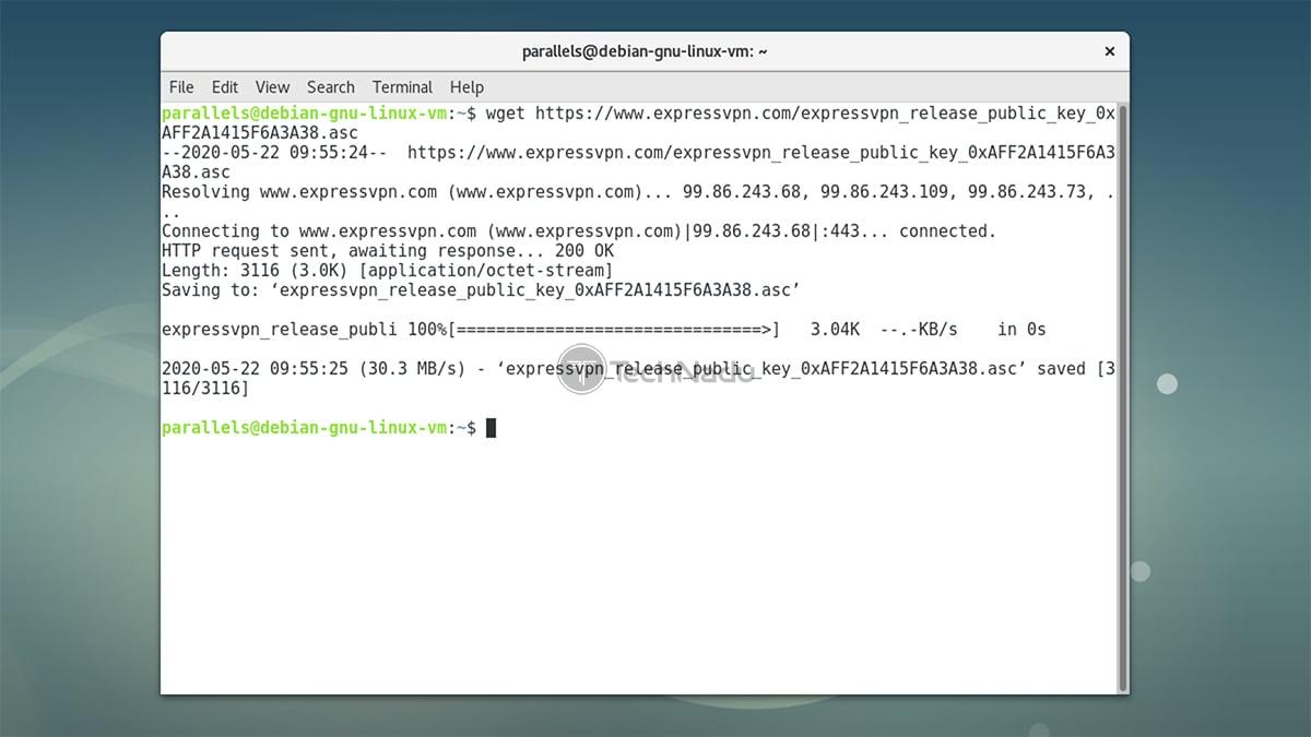 Downloading PGP Key ExpressVPN Linux