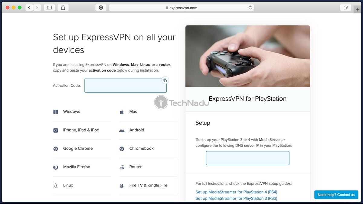 ExpressVPN Custom DNS Setup PlayStation