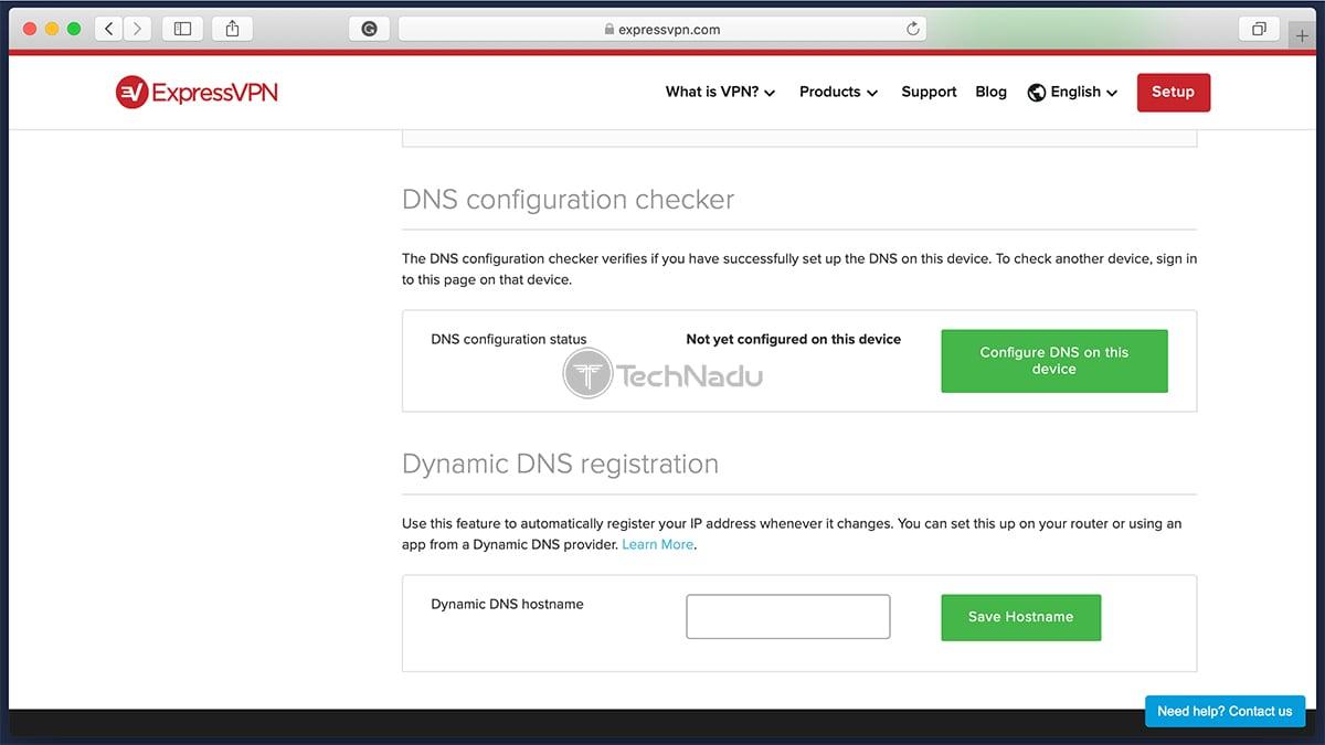 ExpressVPN Dynamic DNS Validation