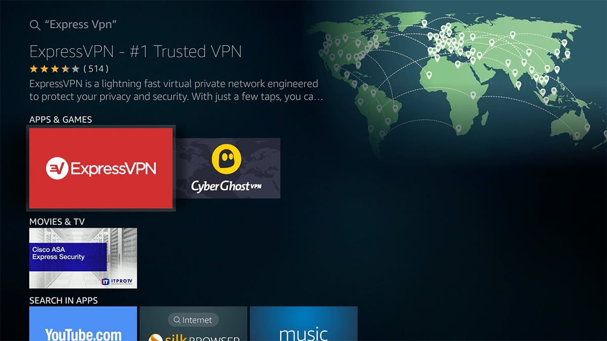 ExpressVPN Fire TV Search Results