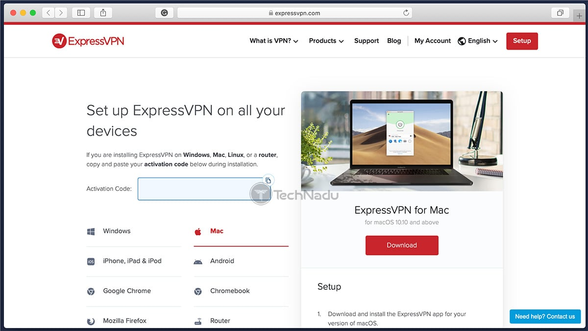 ExpressVPN User Account Dashboard Website