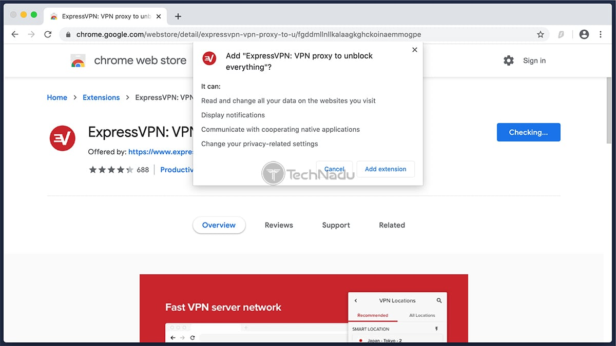 Installing ExpressVPN on Chrome