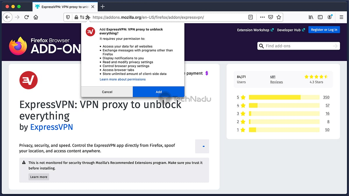Installing ExpressVPN on Firefox