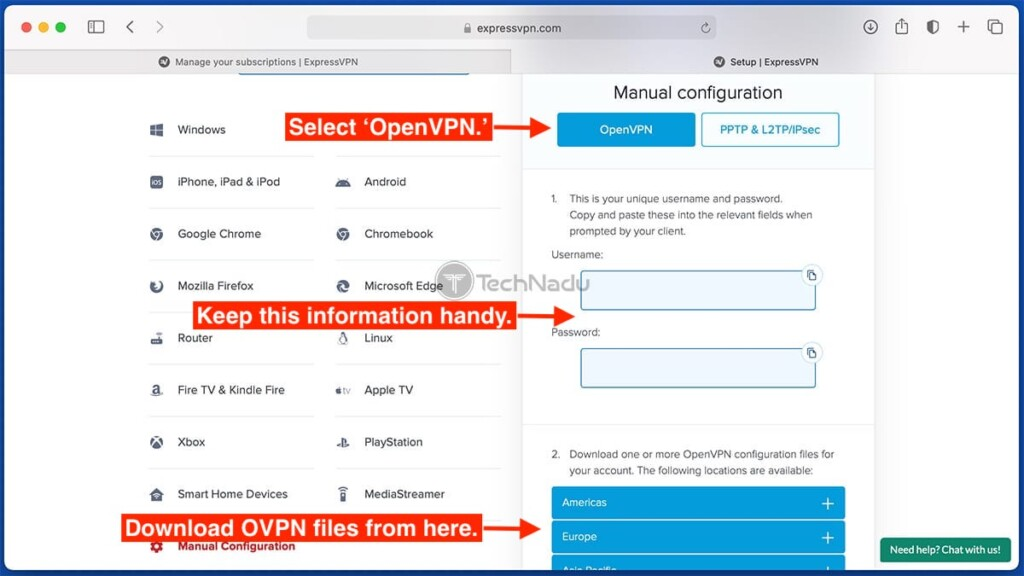 Manual Configuration of OpenVPN on Android ExpressVPN