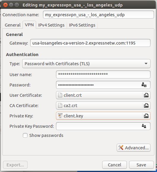 OpenVPN Preferences Linux