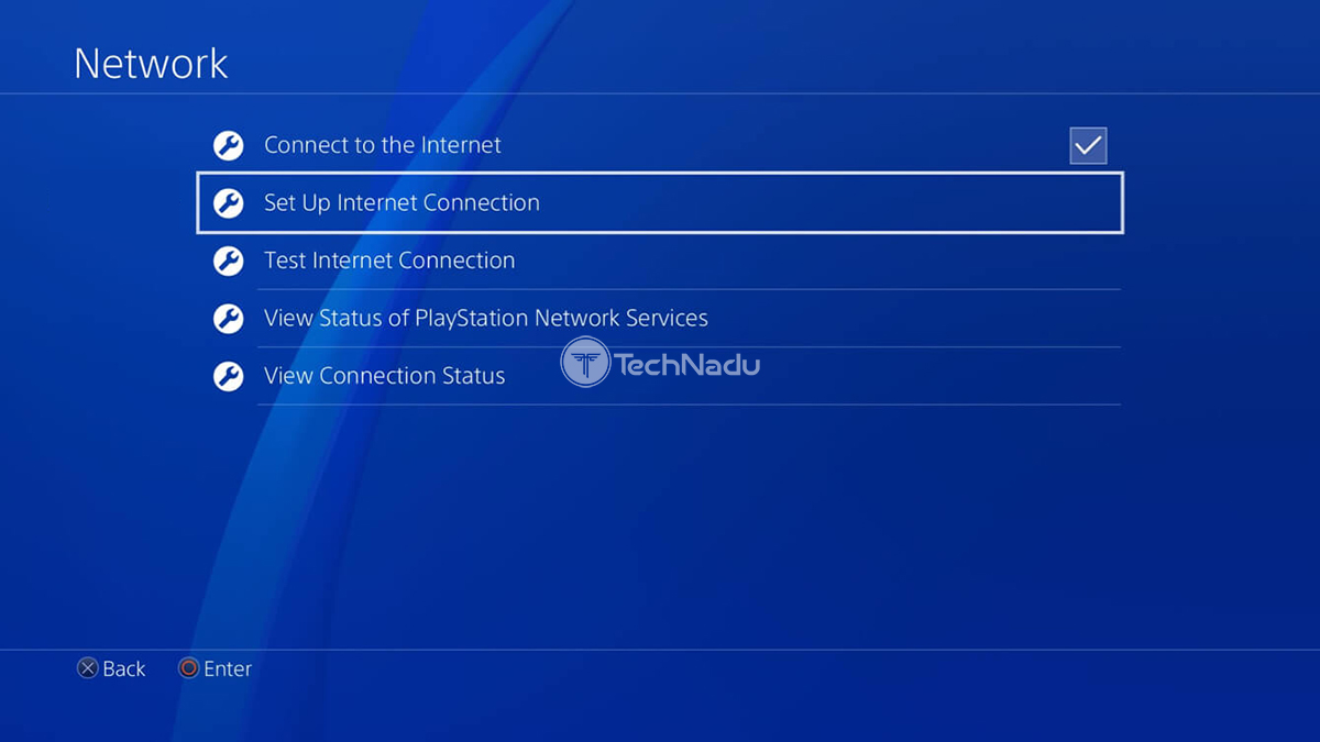 PlayStation 4 Creating New Web Connection