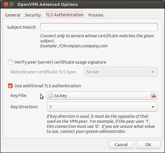 TLS Authentication Linux Network Manager
