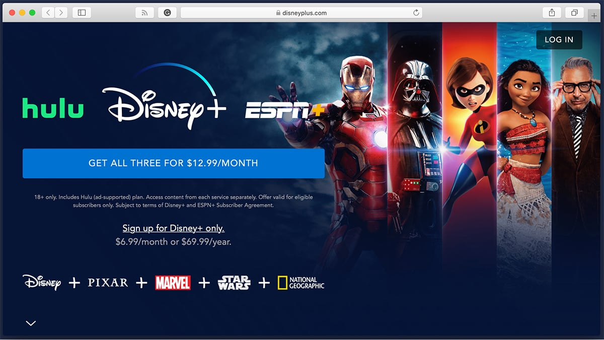 Disney Plus Signup Splash Screen