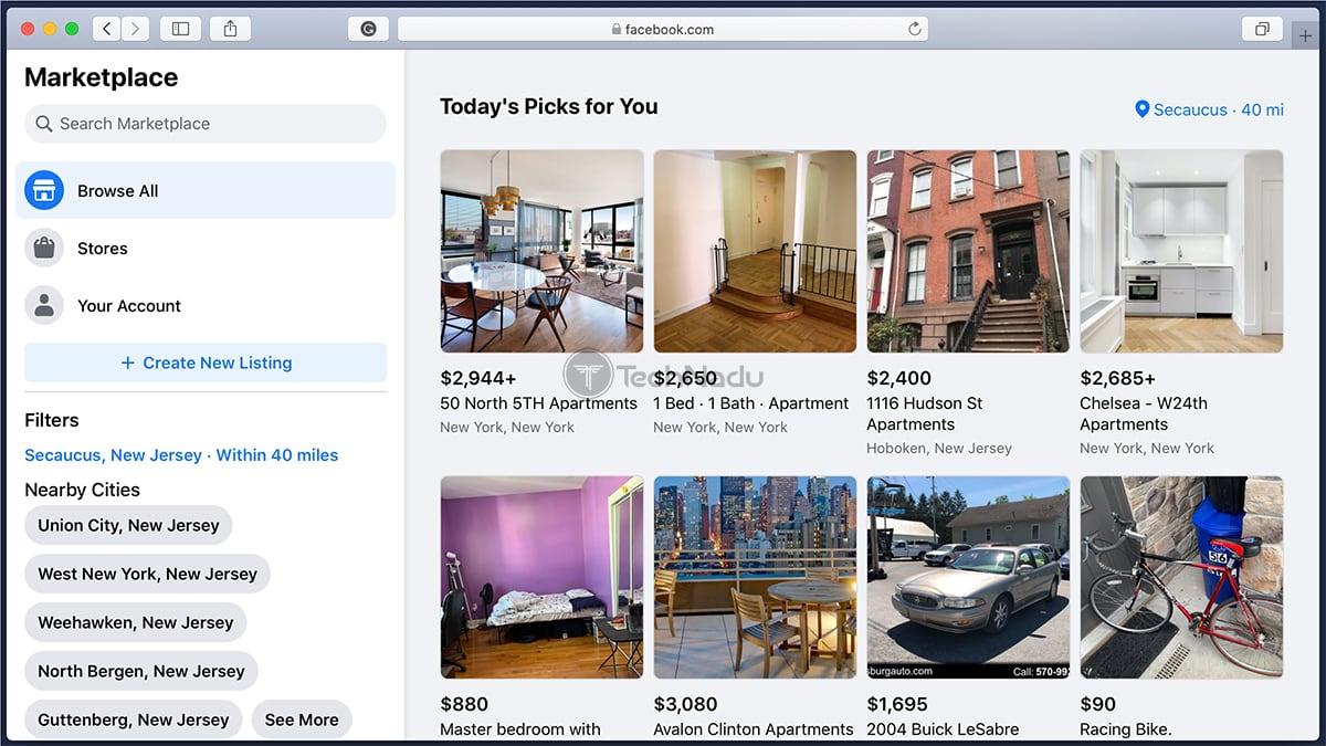 Facebook Marketplace Classifieds