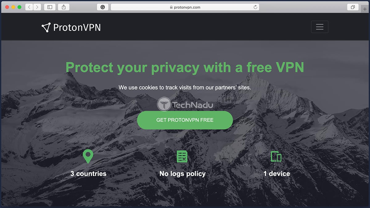 ProtonVPN Trial Signup Page