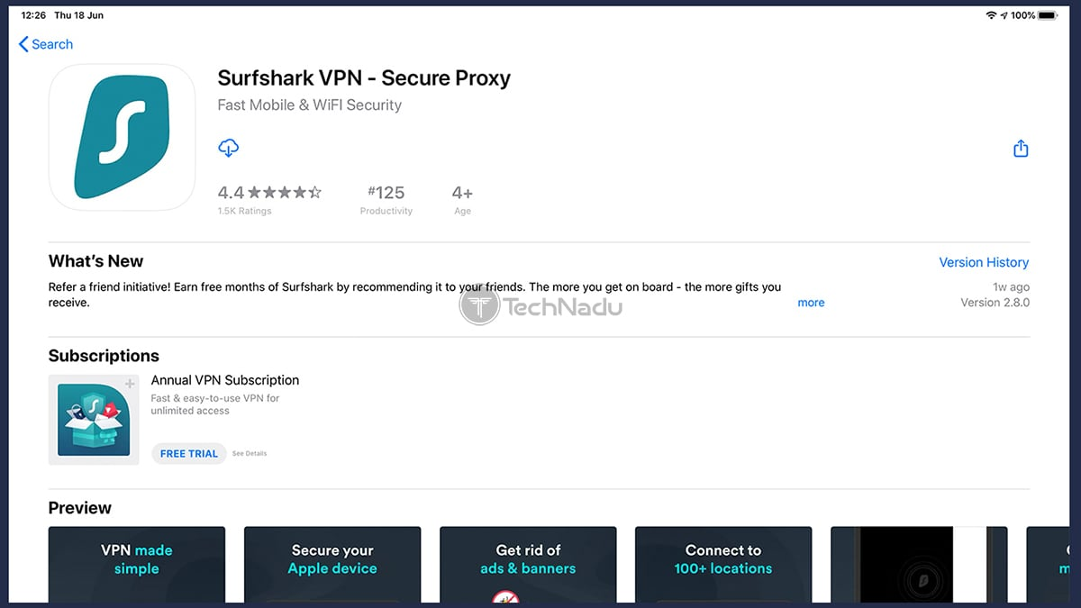 Surfshark VPN Landing Page