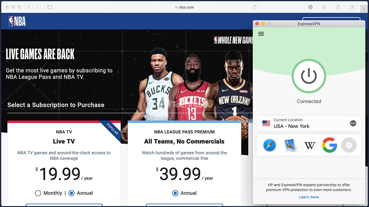 Accessing NBA League Pass USA via VPN