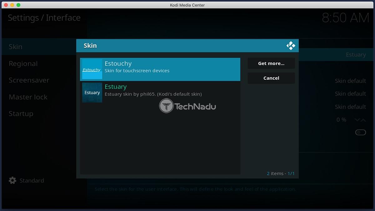 Changing Skins on Kodi