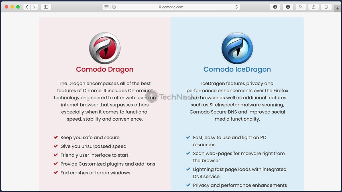 Comodo Browsers Homepage