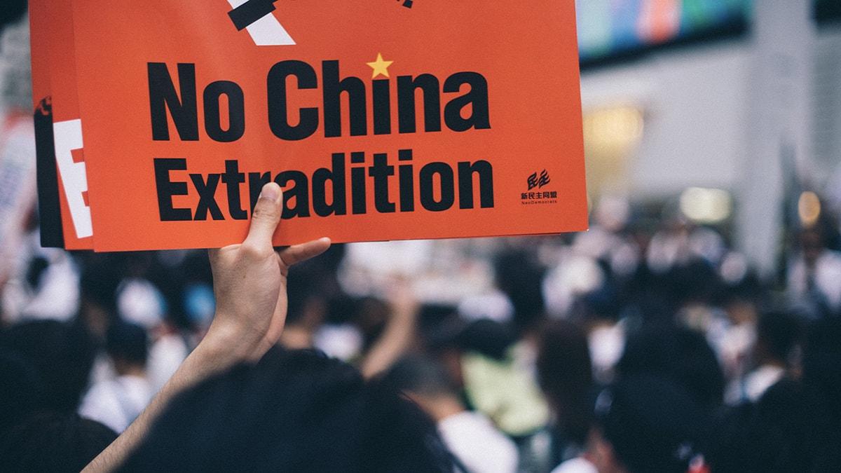 Hong Kong China Extradition Protest