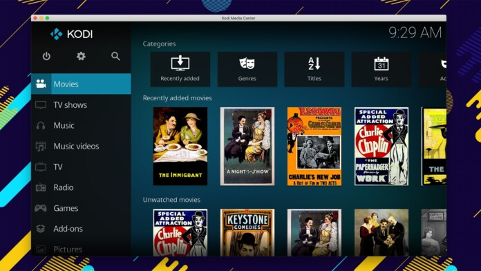 Kodi Movies Section Artwork Interface