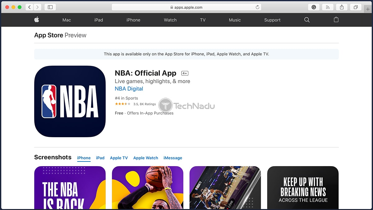 NBA Official iOS App Overview