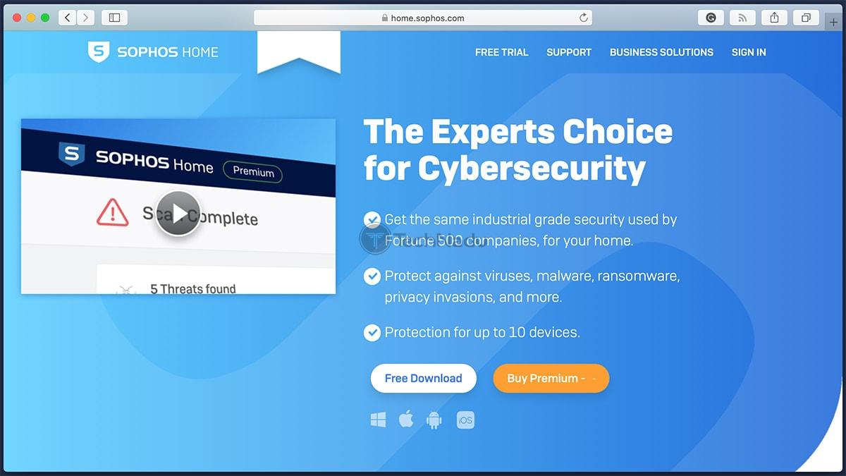 Sophos Home Website