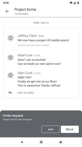 chat block
