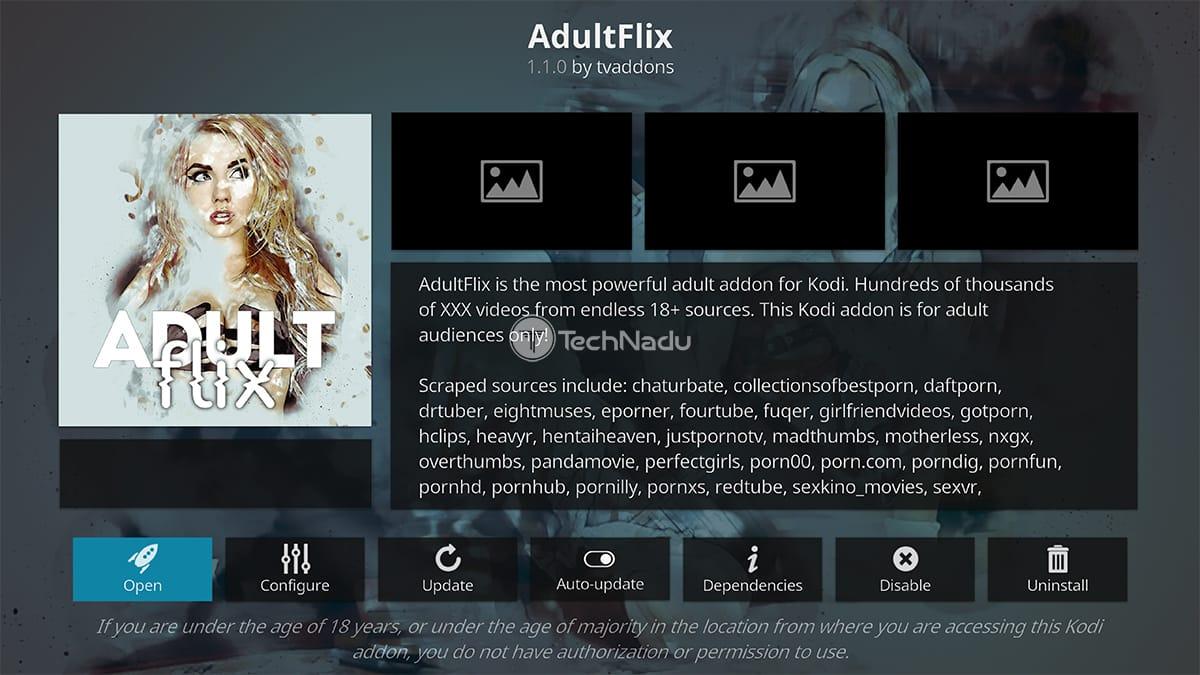 AdultFlix Adult Kodi Addon