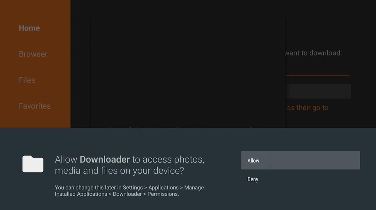 Downloader App Fire OS Asking for Permissions