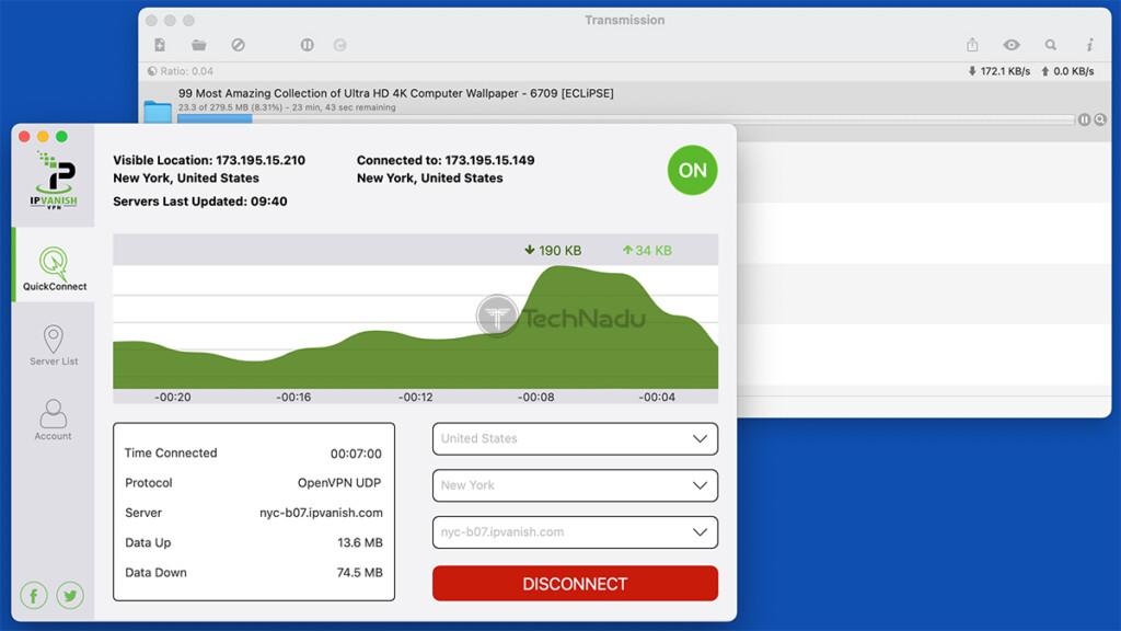 Downloading Torrents via IPVanish