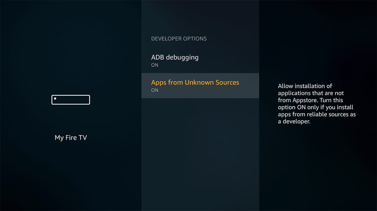 Enabling Apps From Unknown Sources on Fire OS
