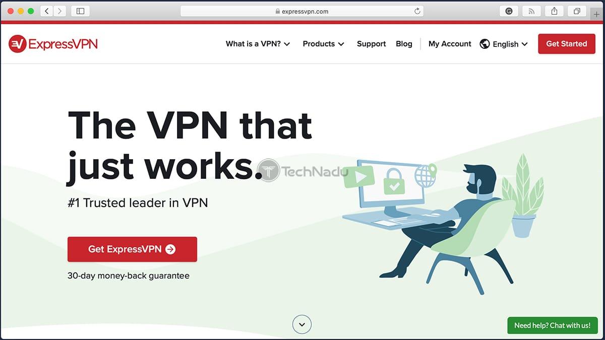ExpressVP Website via Safari