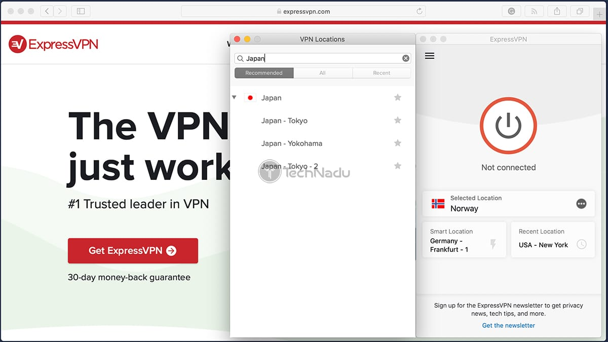 ExpressVPN Recommended Server From Connecting From China