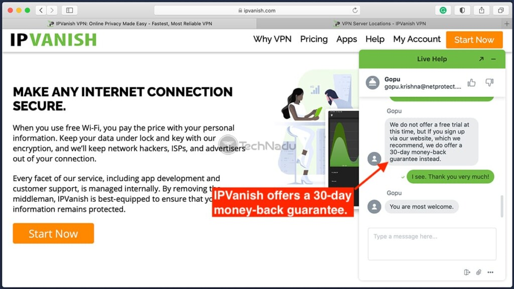 Information About IPVanish Free Trial