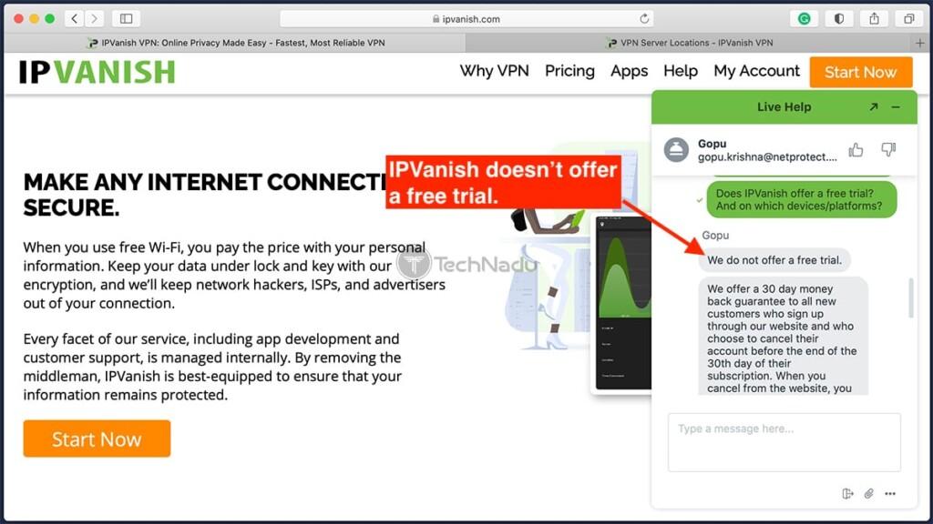 Information About Money Back Guarantees IPVanish