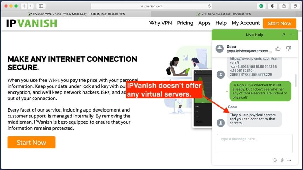 Information About Virtual Servers IPvanish