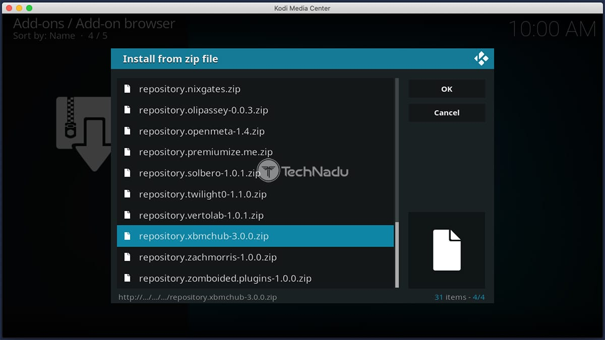 Installing Repository from ZIP File