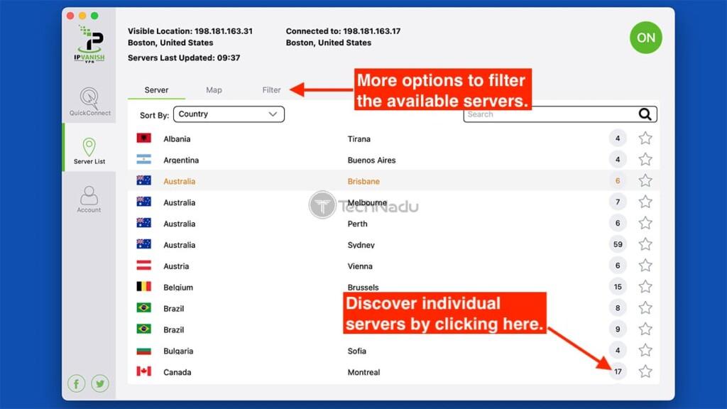 Listing IPVanish Servers via macOS App
