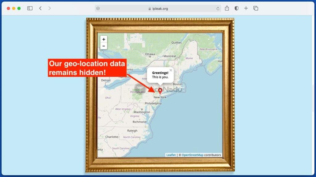 No Geo Location Leaks Detected IPVanish