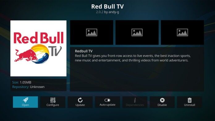 Red Bull TV Kodi Addon Overview
