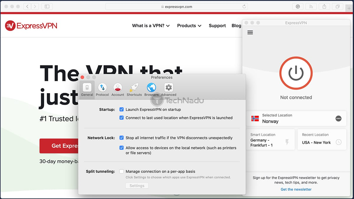 Setting ExpressVPN to Launch on Startup