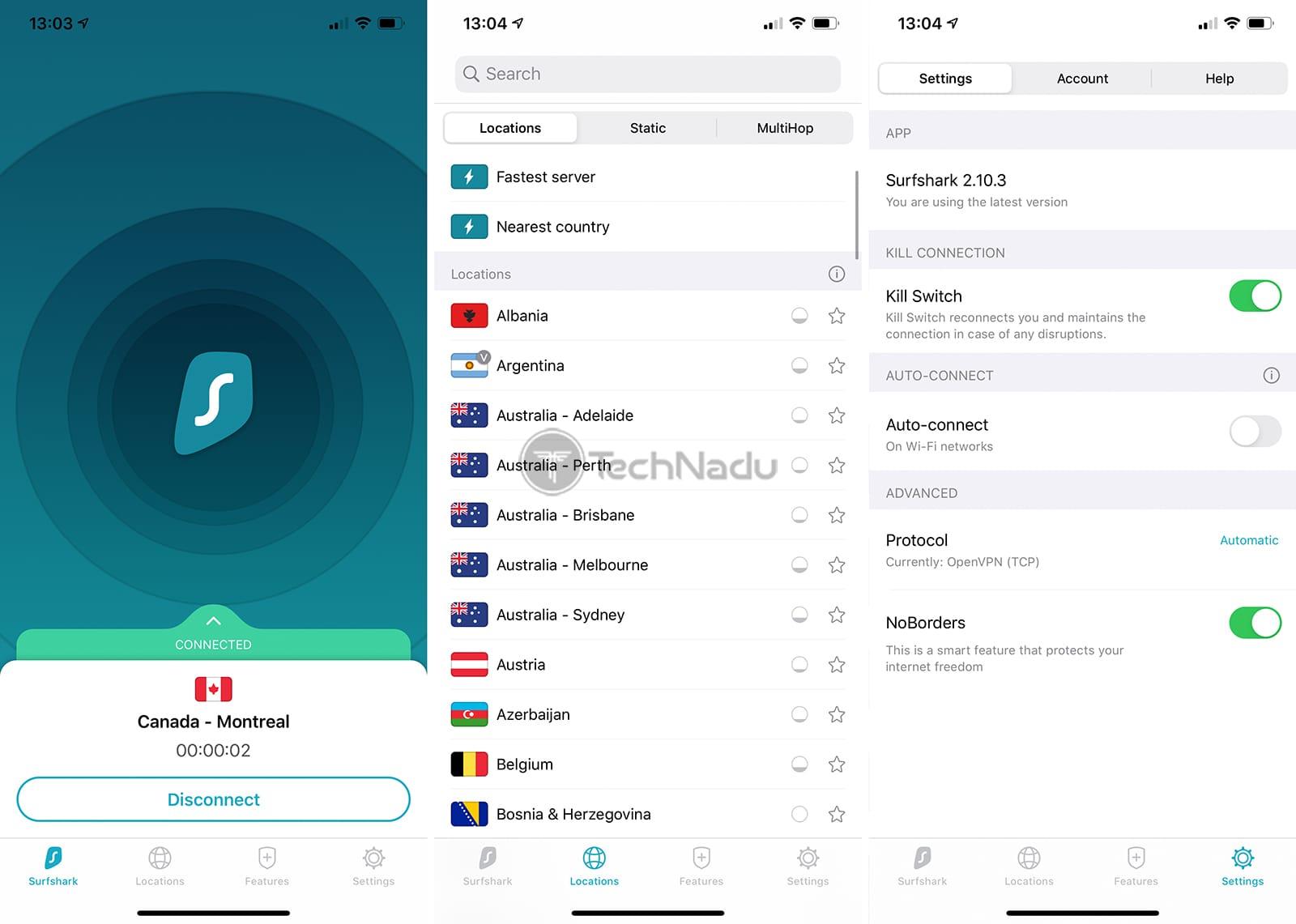 Surfshark iOS App