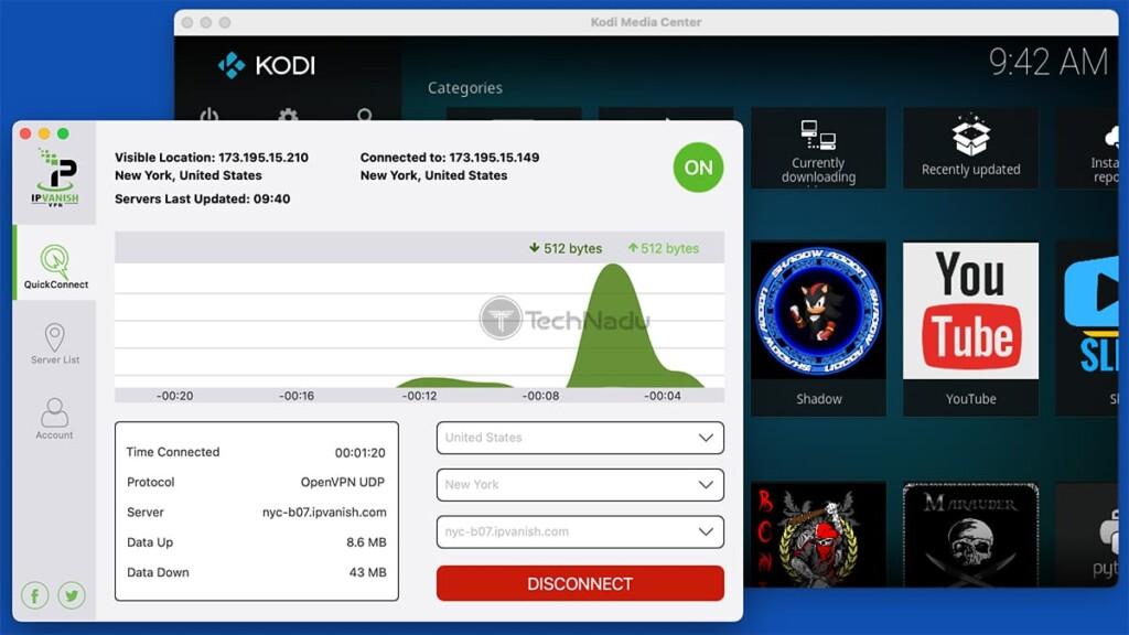 Using Kodi Alongside IPVanish